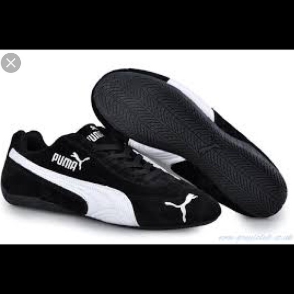 160578255f ... spain puma speed cat black suede sneakers nwt 81095 2c486